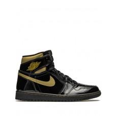 Air Jordan 1 High 'Black Metallic Gold 555088-032