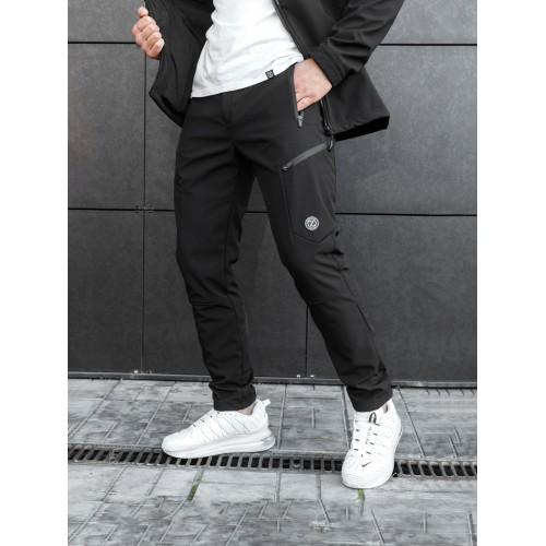 Теплые карго штаны BEZET Softshell Black - XL