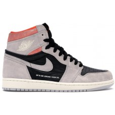 Jordan 1 Retro High Neutral Grey Hyper Crimson 555088018